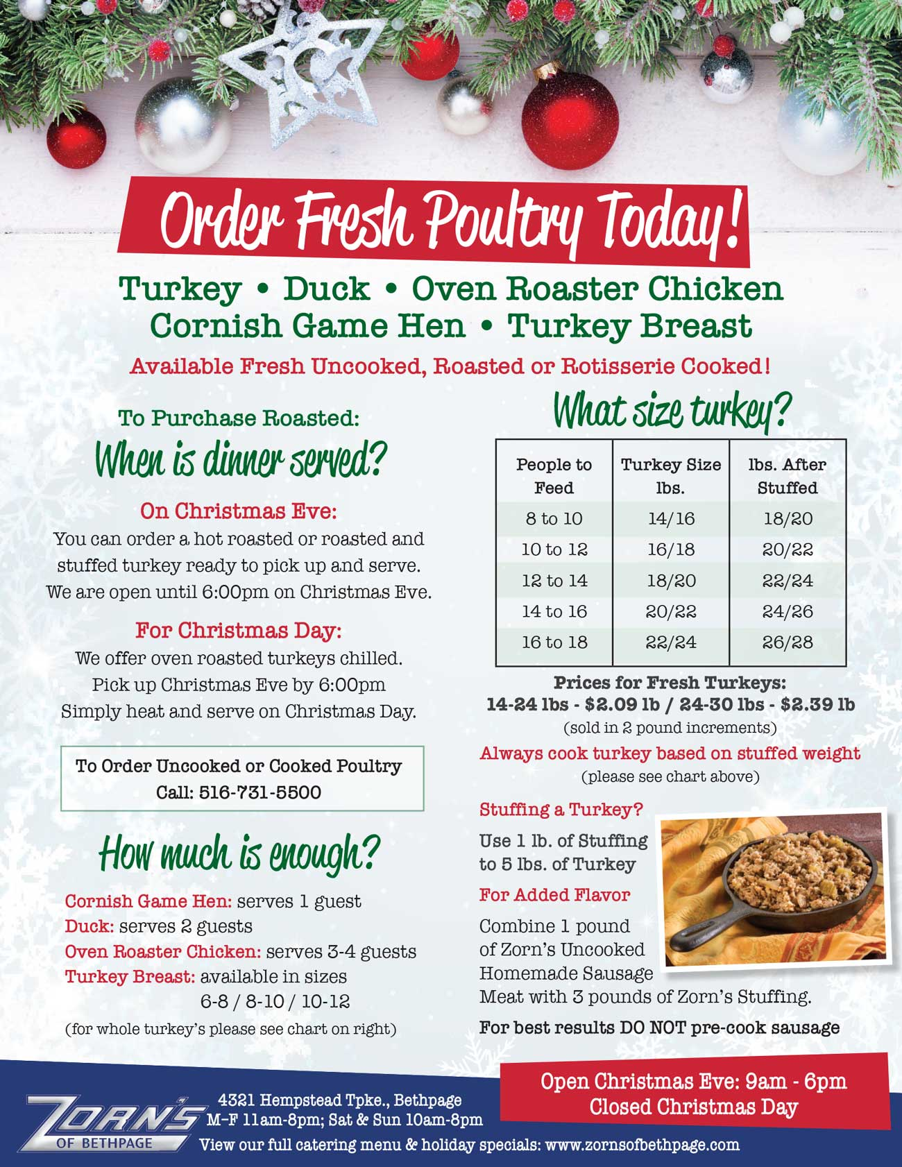 Long Island\'s Favorite Holiday Catering > Christmas & New Years