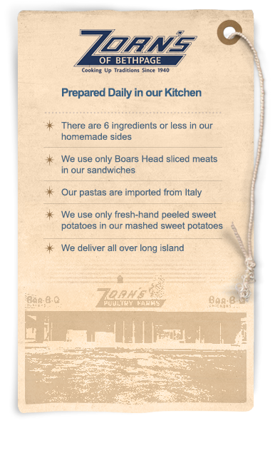 Prepared Daily in our Kitchen